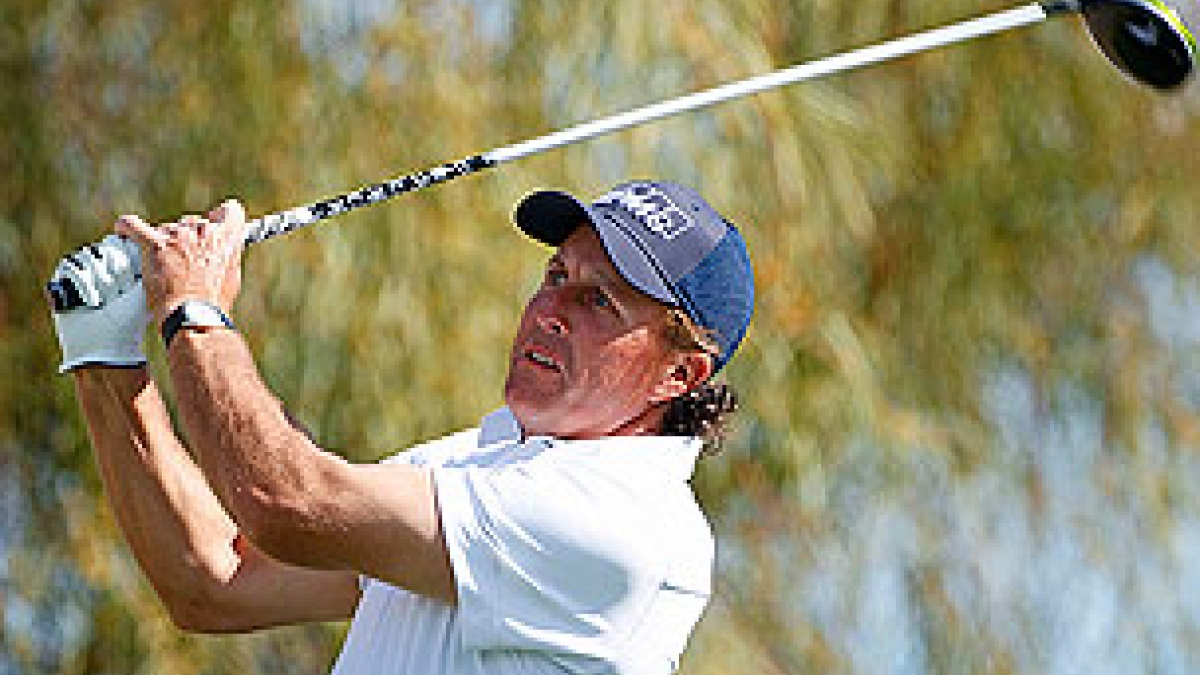Phil Mickelson in the third round of the 2013 Waste Management Phoenix Open
